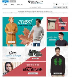 Greenality Online Shop Faire mode nachhaltigkeit