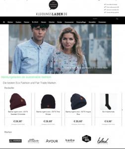 Kleidungsladen Online Shop Faire Mode nachhaltigkeit Vegan