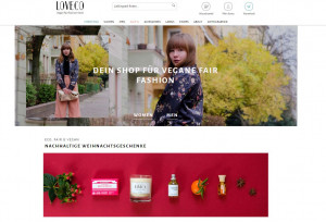 Screenshot Loveco Online Shop Faire mode Vegan