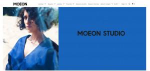 Screenshot Möon Studio Online Shop Faire Mode Vegan nachhaltigkeit