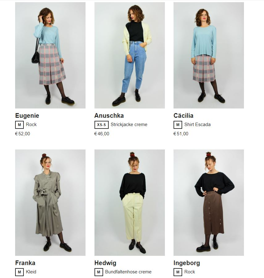 oma klara vintage secondhand online shop fair fashion
