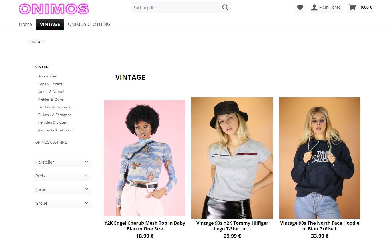 onimos vintage secondhand online shop fair fashion nachhaltig