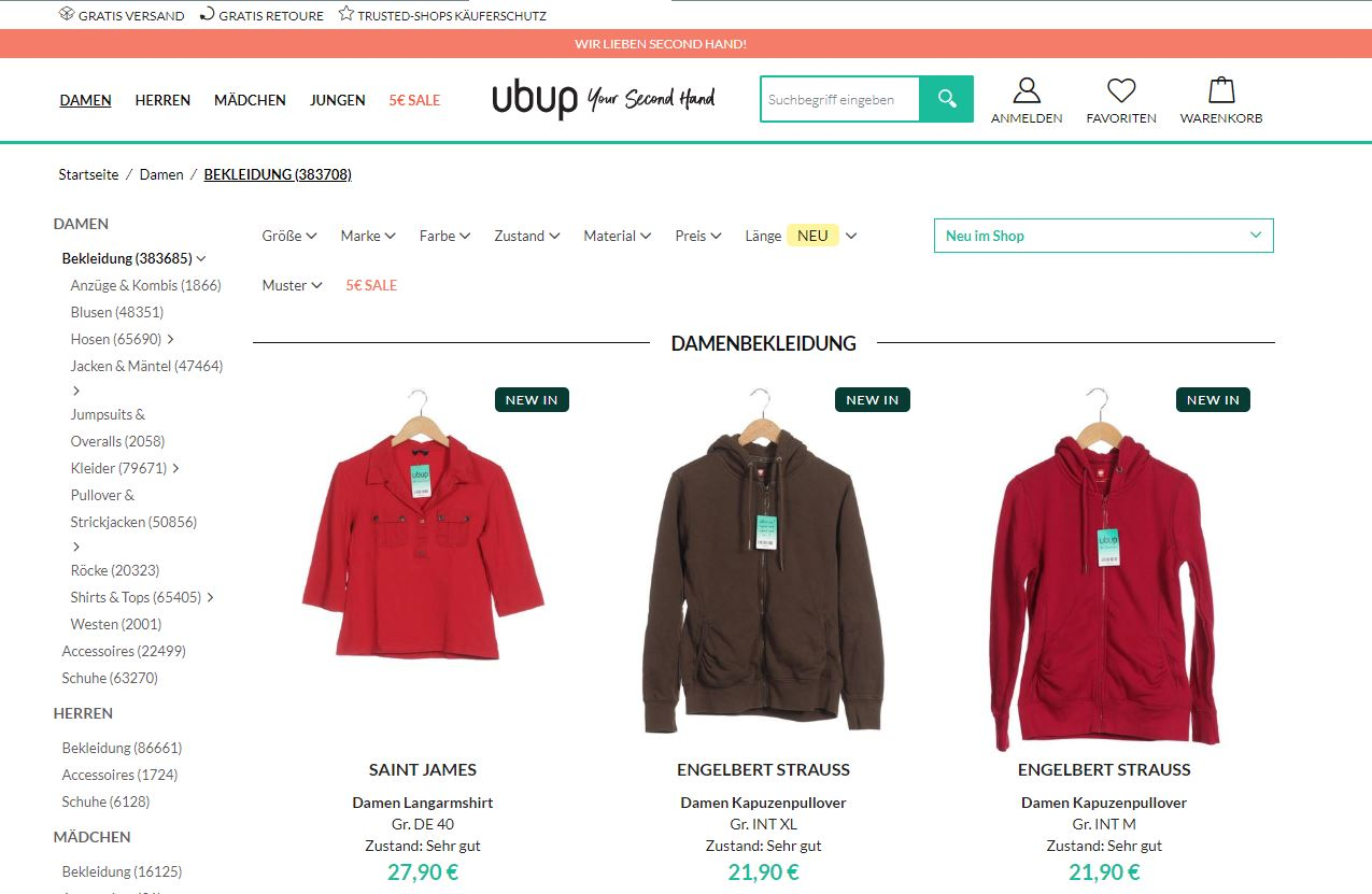 ubup secondhand vintage nachhaltig fair fashion